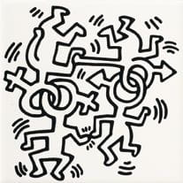 ASCOT Game of Fifteen  Glazura KEITH HARING DEKOR MIX 20x20- GFKHD
