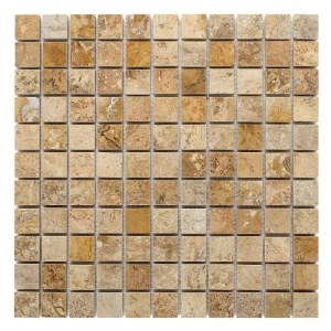 DUNIN Mozaika kamienna Travertine CREAM 25 305x305 mm